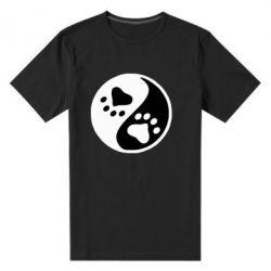 Чоловіча стрейчова футболка інь янь лапки - FatLine