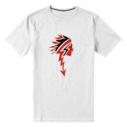 Мужская стрейчевая футболка индеец - FatLine