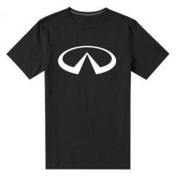 Мужская стрейчевая футболка Infiniti logo - FatLine