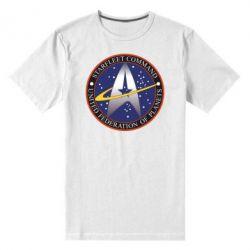 Мужская стрейчевая футболка Inited Federation of Planets - FatLine