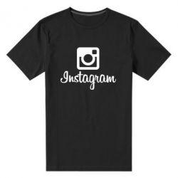 Мужская стрейчевая футболка Instagram - FatLine