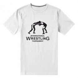Мужская стрейчевая футболка International Wrestling Tournament - FatLine
