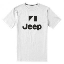 Мужская стрейчевая футболка Jeep Logo - FatLine