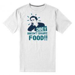 Мужская стрейчевая футболка Joey doesn't share food!