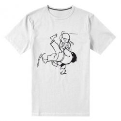 Мужская стрейчевая футболка Judo Fighters - FatLine