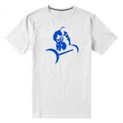 Мужская стрейчевая футболка Качек и штанга - FatLine