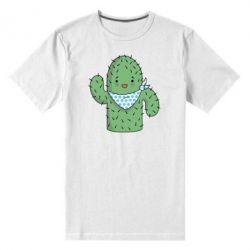 Мужская стрейчевая футболка Кактус