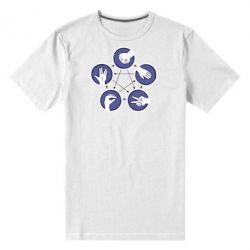 Мужская стрейчевая футболка Камень, ножницы, бумага, ящерица, спок - FatLine