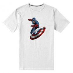Мужская стрейчевая футболка Капитан Америка - FatLine