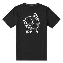 Мужская стрейчевая футболка Карп - FatLine