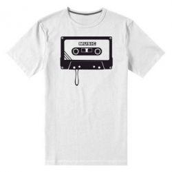 Мужская стрейчевая футболка Кассета - FatLine
