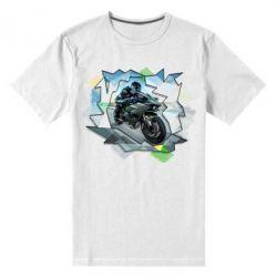 Мужская стрейчевая футболка Kawasaki Ninja Art