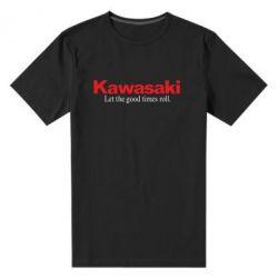 Мужская стрейчевая футболка Kawasaki. Let the good times roll.