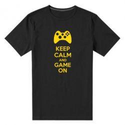 Мужская стрейчевая футболка KEEP CALM and GAME ON - FatLine