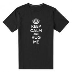 Мужская стрейчевая футболка KEEP CALM and HUG ME - FatLine