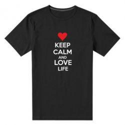 Мужская стрейчевая футболка KEEP CALM and LOVE LIFE - FatLine