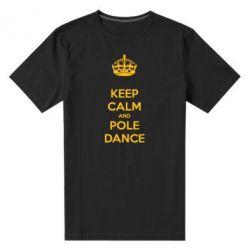 Чоловіча стрейчева футболка KEEP CALM and pole dance
