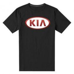 Мужская стрейчевая футболка KIA 3D Logo - FatLine