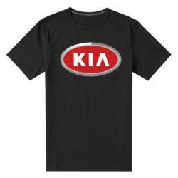 Мужская стрейчевая футболка KIA Logo 3D - FatLine