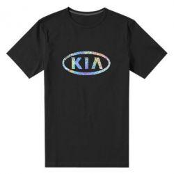 Мужская стрейчевая футболка KIA logo Голограмма
