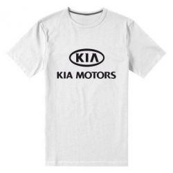 Мужская стрейчевая футболка Kia Logo - FatLine