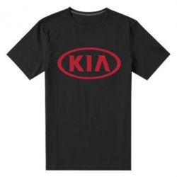 Мужская стрейчевая футболка KIA - FatLine