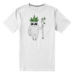 Мужская стрейчевая футболка King sloths