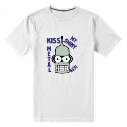 Мужская стрейчевая футболка Kiss metal
