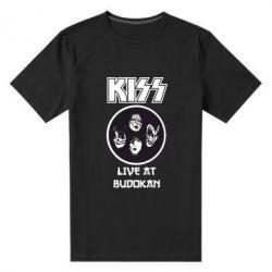 Мужская стрейчевая футболка Kiss - FatLine