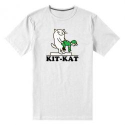 Мужская стрейчевая футболка Kit-Kat - FatLine
