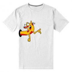 Мужская стрейчевая футболка Кіт - FatLine