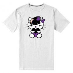 Мужская стрейчевая футболка Китти Эмо - FatLine
