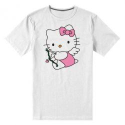 Мужская стрейчевая футболка Kitty амурчик - FatLine