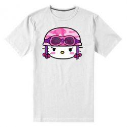 Мужская стрейчевая футболка Kitty-вояка - FatLine