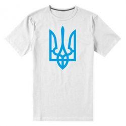 Мужская стрейчевая футболка Класичний герб України - FatLine