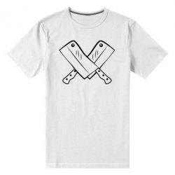 Мужская стрейчевая футболка Knives - FatLine