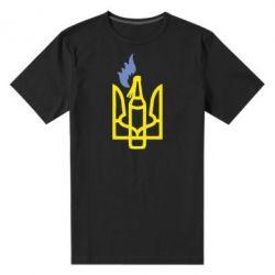 Мужская стрейчевая футболка Коктейль Молотова - FatLine