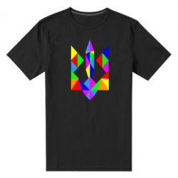 Мужская стрейчевая футболка Кольоровий герб