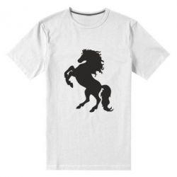 Мужская стрейчевая футболка Конь - FatLine