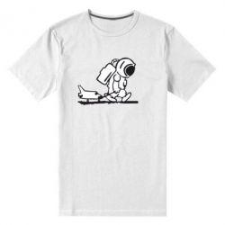 Мужская стрейчевая футболка Космонавт - FatLine