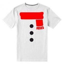 Мужская стрейчевая футболка Костюм снеговика - FatLine