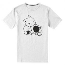 Чоловіча стрейчова футболка кошенята - FatLine