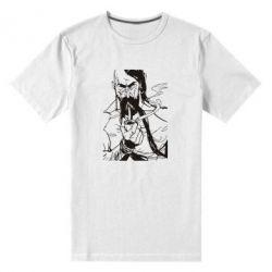 Мужская стрейчевая футболка Козачина з люлькою - FatLine