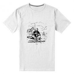 Мужская стрейчевая футболка Козак та кінь - FatLine