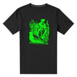 Мужская стрейчевая футболка Козак у камишу - FatLine