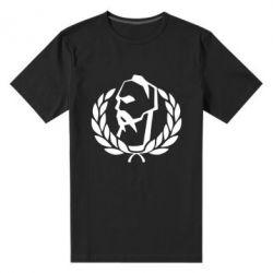 Мужская стрейчевая футболка Козак у вінку - FatLine