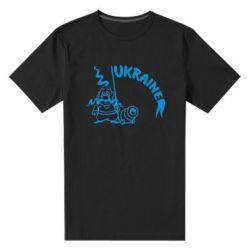 Мужская стрейчевая футболка Козак з гарматою - FatLine