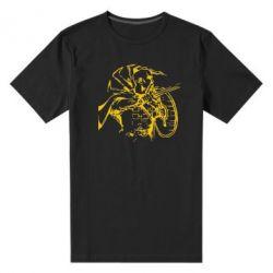 Мужская стрейчевая футболка Козак з щитом - FatLine