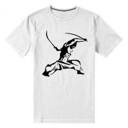 Мужская стрейчевая футболка Козак з шаблями - FatLine