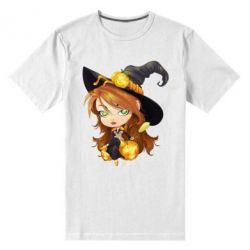 Мужская стрейчевая футболка Красивая ведьма